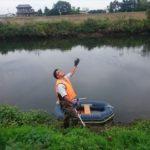 川の測量。